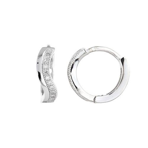 boucle oreille femme argent zirconium 8800031