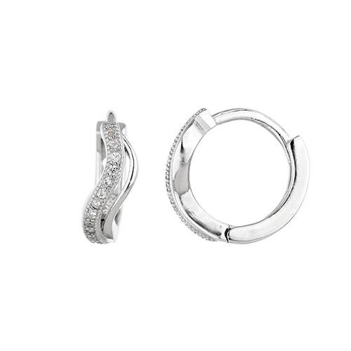 boucle oreille femme argent zirconium 8800032
