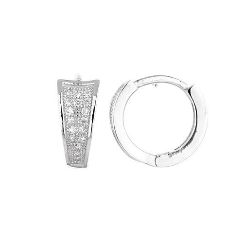 boucle oreille femme argent zirconium 8800033