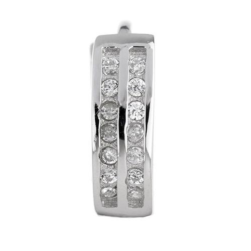 boucle oreille femme argent zirconium 8800035 pic2