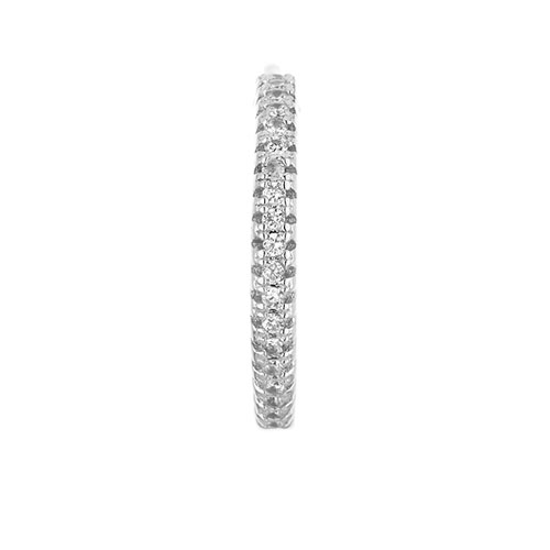 boucle oreille femme argent zirconium 8800036 pic2