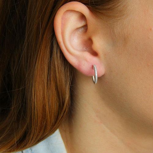 boucle oreille femme argent zirconium 8800036 pic5