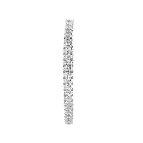 boucle oreille femme argent zirconium 8800037 pic2
