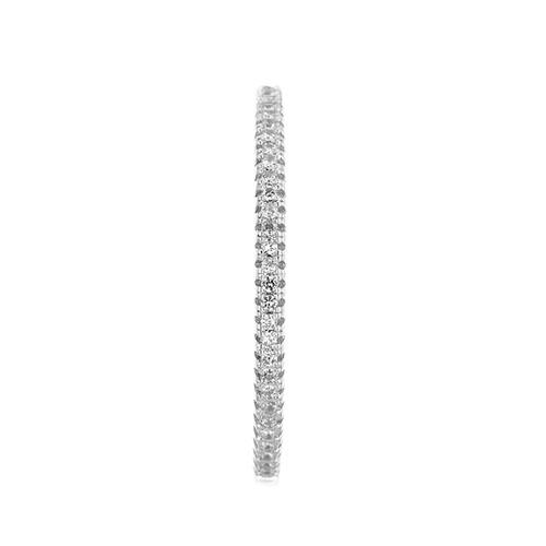 boucle oreille femme argent zirconium 8800038 pic2