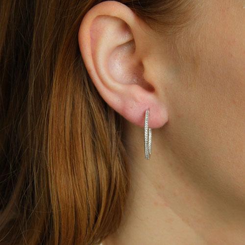 boucle oreille femme argent zirconium 8800038 pic5