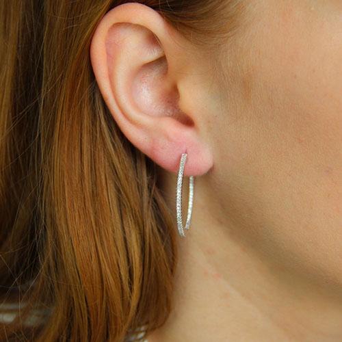 boucle oreille femme argent zirconium 8800039 pic5