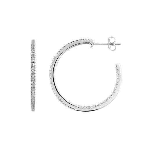 boucle oreille femme argent zirconium 8800039
