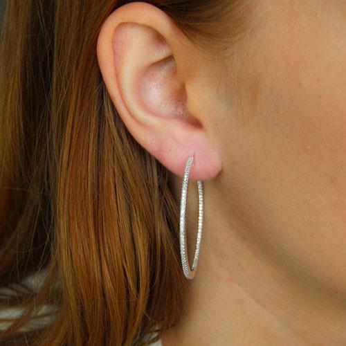 boucle oreille femme argent zirconium 8800041 pic5