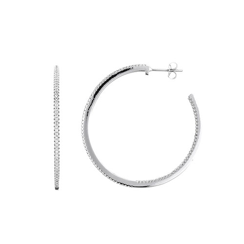 boucle oreille femme argent zirconium 8800041