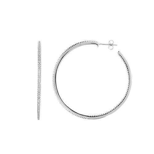 boucle oreille femme argent zirconium 8800042