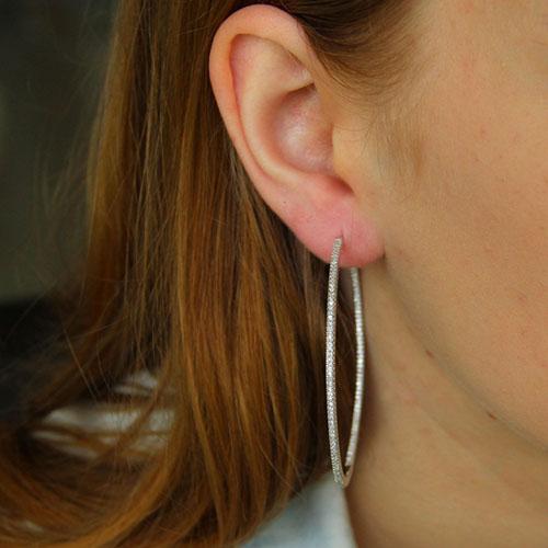 boucle oreille femme argent zirconium 8800043 pic5