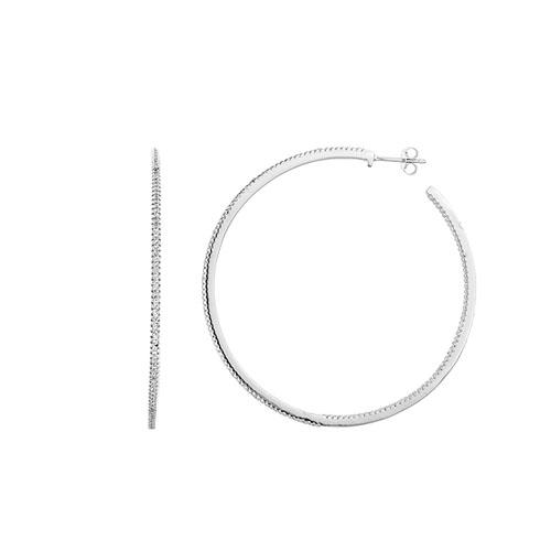 boucle oreille femme argent zirconium 8800043