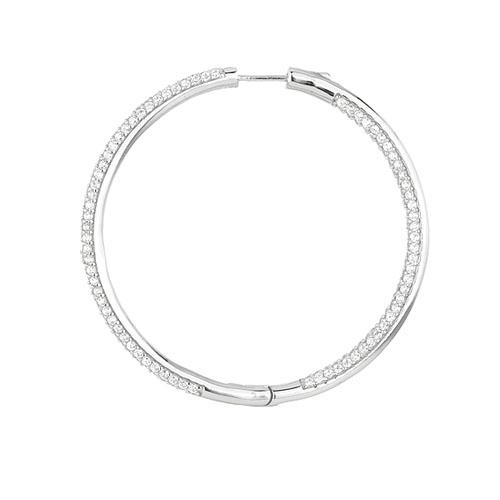 boucle oreille femme argent zirconium 8800044 pic3