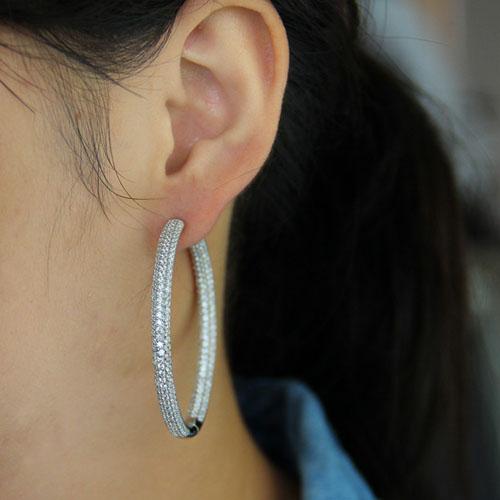 boucle oreille femme argent zirconium 8800044 pic5