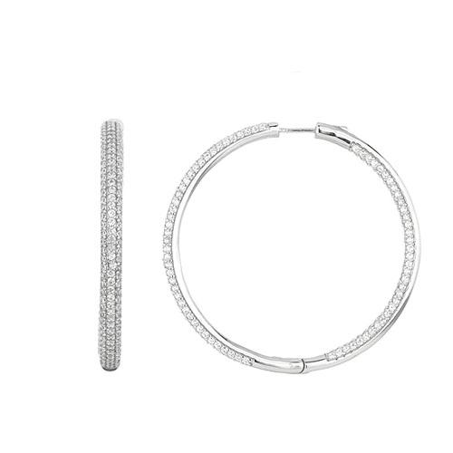 boucle oreille femme argent zirconium 8800044