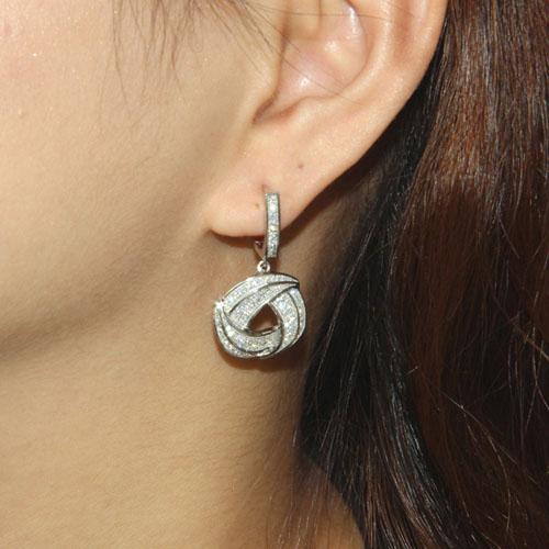 boucle oreille femme argent zirconium 9300003 pic5