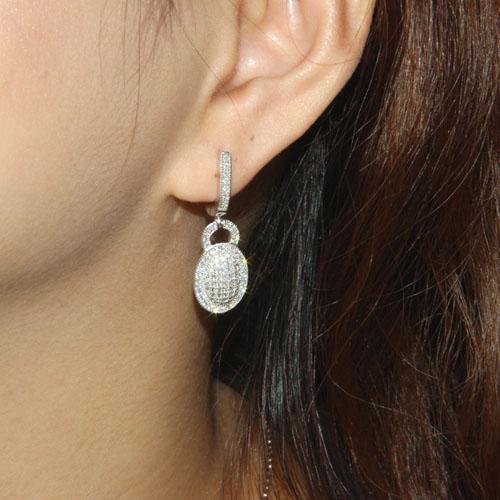 boucle oreille femme argent zirconium 9300004 pic5