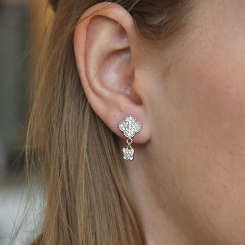 boucle oreille femme argent zirconium 9300005 pic5