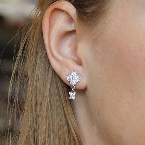 boucle oreille femme argent zirconium 9300005 pic6