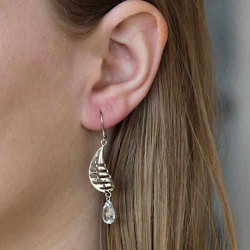 boucle oreille femme argent zirconium 9300008 pic5