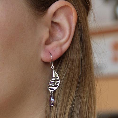 boucle oreille femme argent zirconium 9300009 pic5