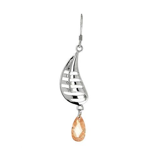 boucle oreille femme argent zirconium 9300010 pic2