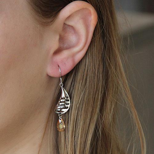 boucle oreille femme argent zirconium 9300010 pic5