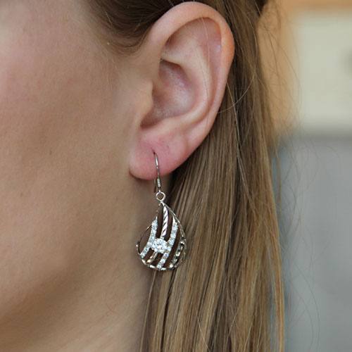 boucle oreille femme argent zirconium 9300011 pic5