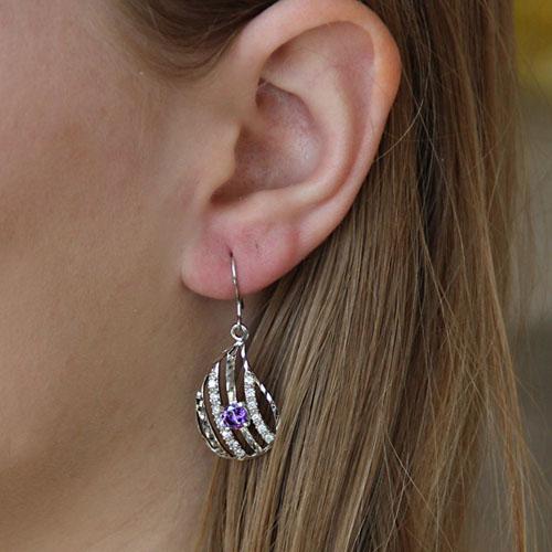 boucle oreille femme argent zirconium 9300012 pic5