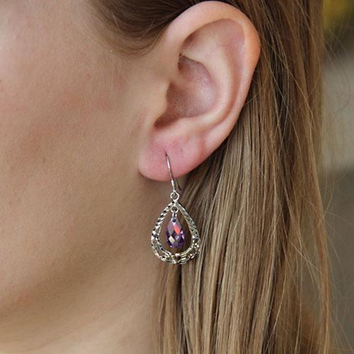 boucle oreille femme argent zirconium 9300013 pic5