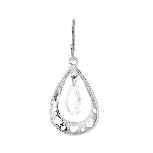 boucle oreille femme argent zirconium 9300014 pic4