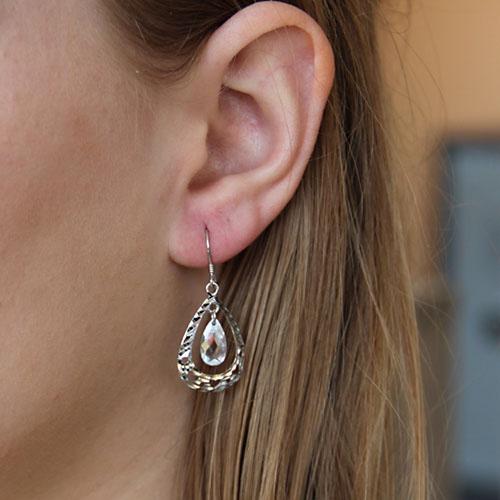boucle oreille femme argent zirconium 9300014 pic5