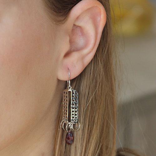boucle oreille femme argent zirconium 9300015 pic5