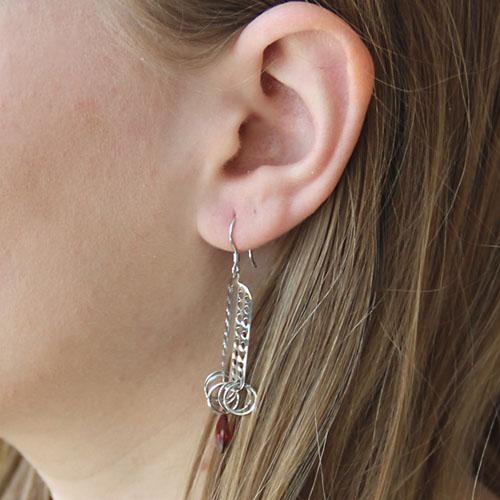 boucle oreille femme argent zirconium 9300015 pic6