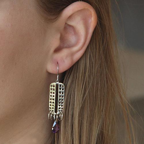 boucle oreille femme argent zirconium 9300016 pic5
