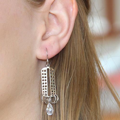 boucle oreille femme argent zirconium 9300017 pic5