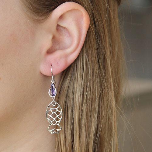 boucle oreille femme argent zirconium 9300019 pic5