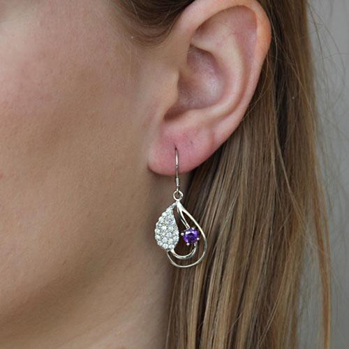 boucle oreille femme argent zirconium 9300020 pic5