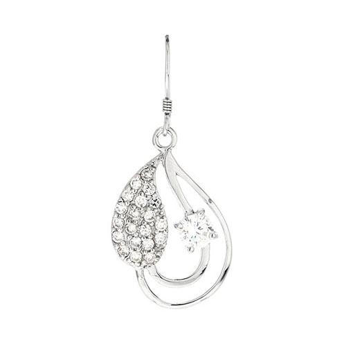 boucle oreille femme argent zirconium 9300021 pic2