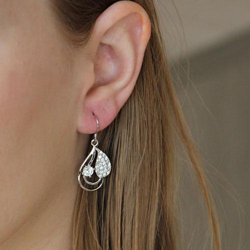 boucle oreille femme argent zirconium 9300021 pic5