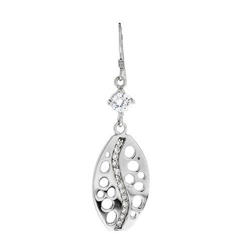 boucle oreille femme argent zirconium 9300022 pic2
