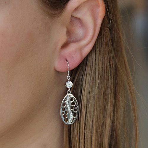boucle oreille femme argent zirconium 9300022 pic5