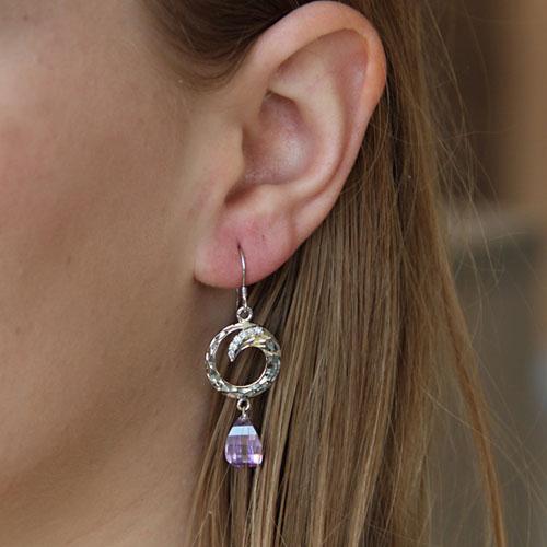 boucle oreille femme argent zirconium 9300023 pic5