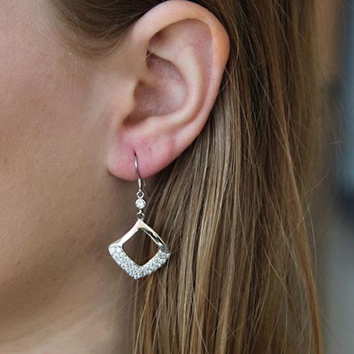 boucle oreille femme argent zirconium 9300061 pic5