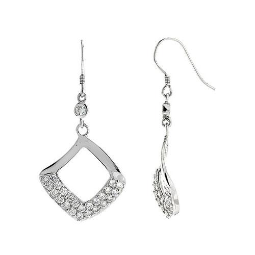 boucle oreille femme argent zirconium 9300061