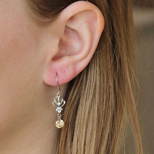boucle oreille femme argent zirconium 9300062 pic5