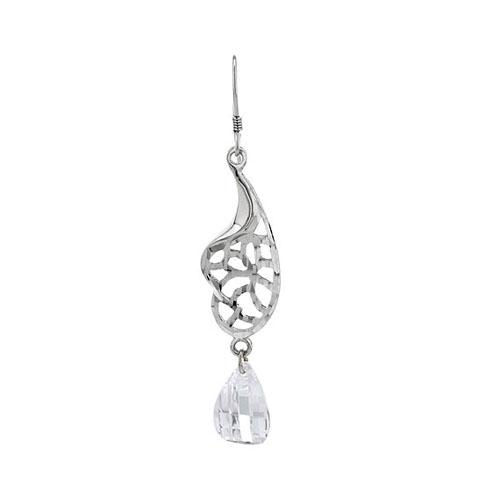 boucle oreille femme argent zirconium 9300065 pic2