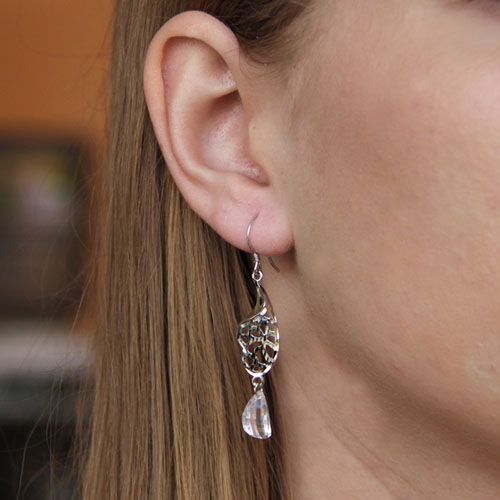 boucle oreille femme argent zirconium 9300065 pic5