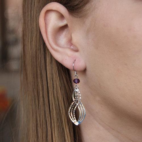 boucle oreille femme argent zirconium 9300067 pic5