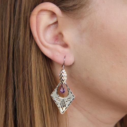 boucle oreille femme argent zirconium 9300072 pic5